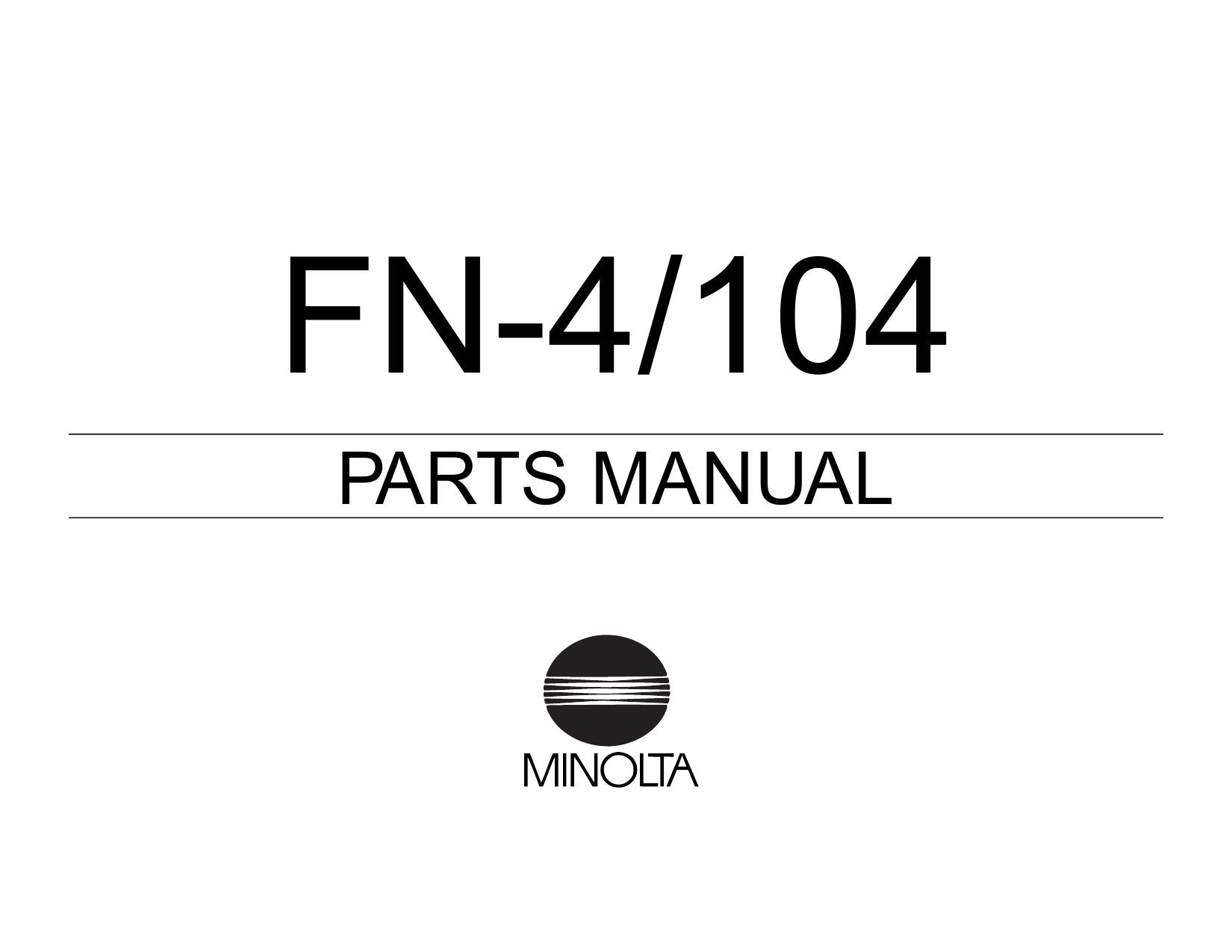 Konica-Minolta Options FN-4 104 Parts Manual-1